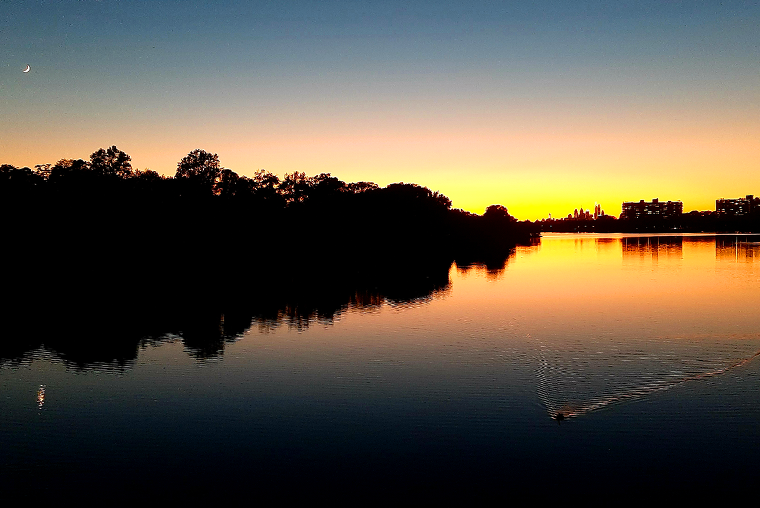 Cooper River Park at sunset