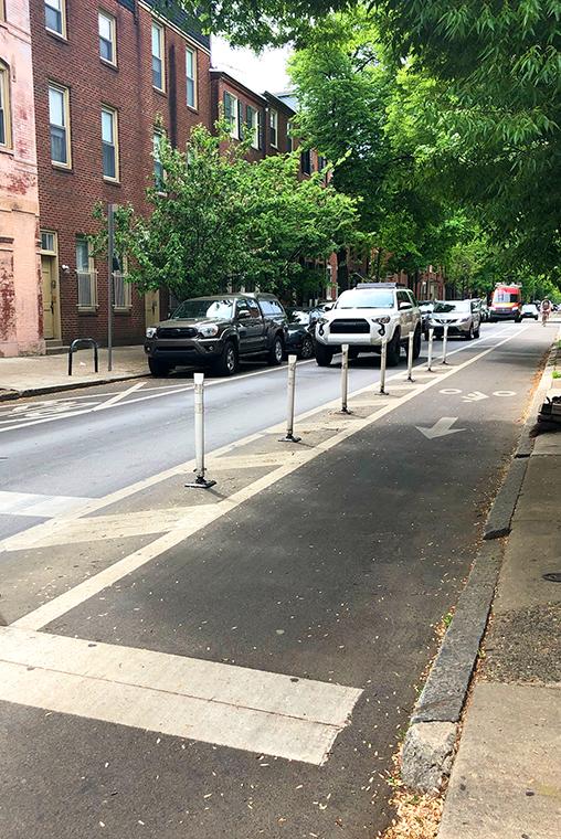 Bike lane on Pine street