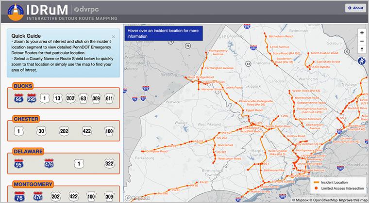 Screenshot of IDRuM web application
