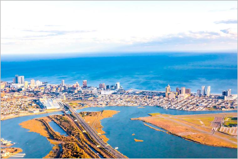 Overhead view of Atlantic City, NJ