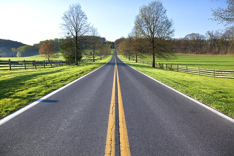 Two-lane rural road