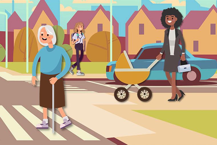 Illustration of pedestrians